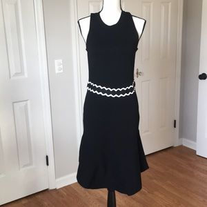 Midi Black Stretchy Dress